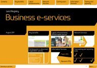 Business e-services special edition - Land Registry