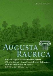 wellness römisch – in der unterwelt eines ... - Augusta Raurica