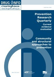 Prevention Research Quarterly - DrugInfo - Australian Drug ...