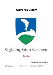 Forslag til nyt gaveregulativ.pdf - Ringkøbing-Skjern Kommune