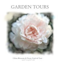 China Blossoms & Peony Festival Tour - Gardening Tours