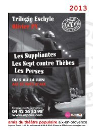 Télécharger le dossier de presse (PDF) - Marseille Provence 2013