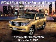 [PDF] Earnings Release Presentation - Toyota