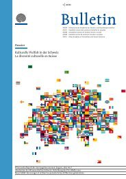Dossier 1   2011 Kulturelle Vielfalt in der Schweiz La diversité ...