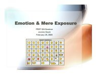 Emotion & Mere Exposure - Ideal.forestry.ubc.ca