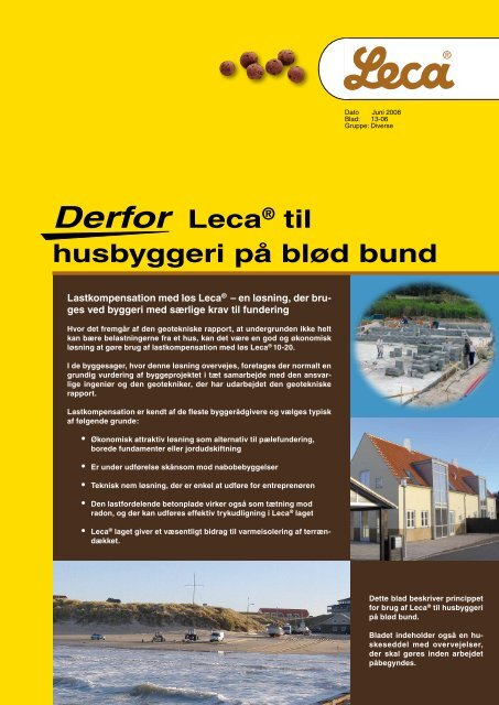 Derfor Leca® til husbyggeri på blød bund - Weber