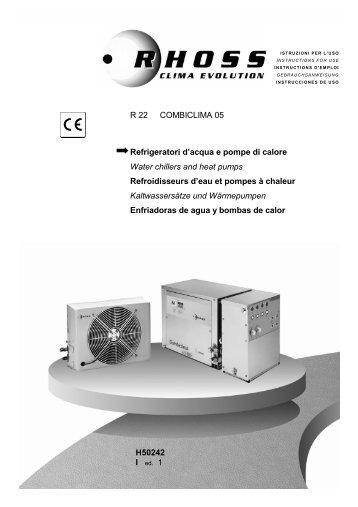 H50242-v1 Manuale Istruzioni Combiclima - Rhoss