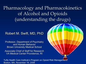 Pharmacology and Pharmacokinetics of Alcohol and Opioids ...