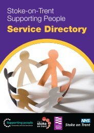 Stoke-on-Trent • Supporting People Service Directory