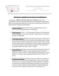 Plan Review Guidelines for Food Establishment - Park County