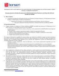 Guía para presentar solicitudes de apoyos Eventos 2012 - Bansefi