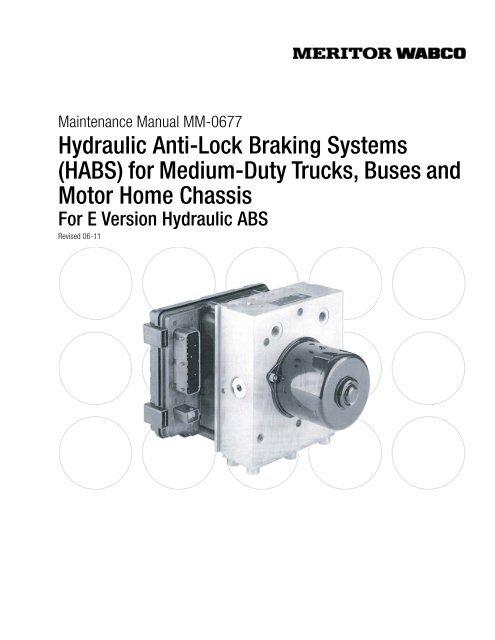 Hydraulic Anti Lock Braking Systems HABS For Meritor