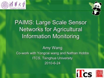 PAIMS: Precision Agriculture Information Monitoring System