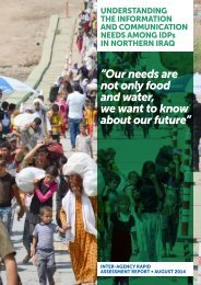 Understanding the Information and Communication Needs of IDPs in Northern Iraq