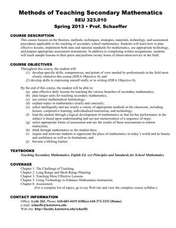 first-day handout - Faculty Home Pages
