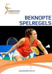 beknopte spelregels versie augustus 2012.cdr - Badminton Nederland