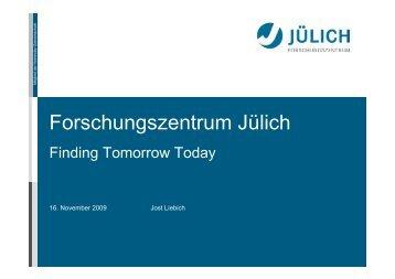 Forschungszentrum Jülich - GI Regionalgruppe Köln