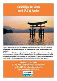 Læserrejse til Japan med SAS og Apollo