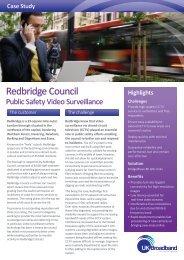 Redbridge Council Case Study - UK Broadband Distribution