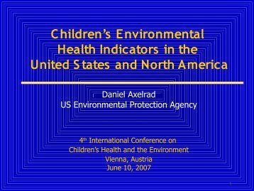 Draft Report: America's Children and the Environment: A First - Inches