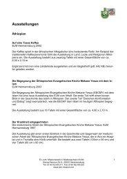 Ausstellungen - Ev.-luth. Missionswerk in Niedersachsen