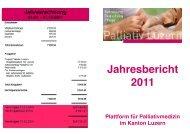 Jahresbericht 2011 - Palliativ Luzern