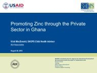 Public Private Partnership in Ghana to address the ... - CORE Group