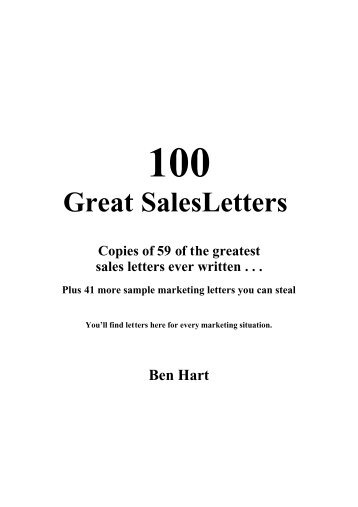 100greatestsalesletters Pdf
