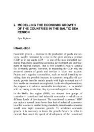 2. modelling the economic growth of the countries in the baltic sea ...