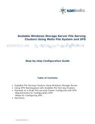 Storage Server Melio FS and DFS Configuration Guide - Sanbolic