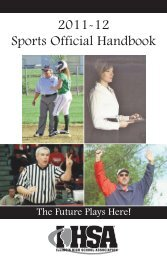Sports Official Handbook - Illinois High School Association