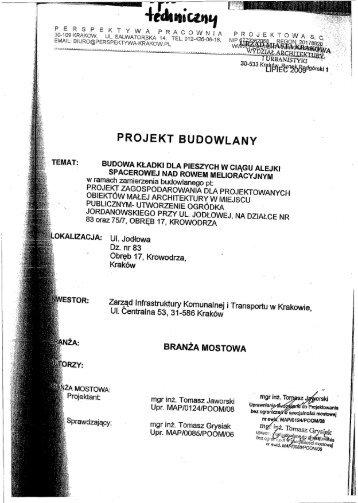 sp E k T Y WA PRAooWNrA - ZIKiT - Zarząd Infrastruktury ...