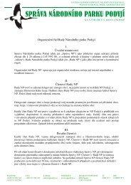 Organizační řád Rady Národního parku Podyjí