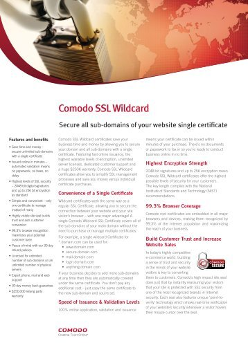 Comodo SSL Wildcard - SSL Certificates