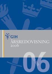 GIH:s årsredovisning för 2006