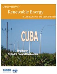 CASE OF CUBA - Observatory for Renewable Energy in Latin ...