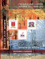 Date d'inscription: Mercredi le 7 septembre 2011 et ... - Sainte-Claire