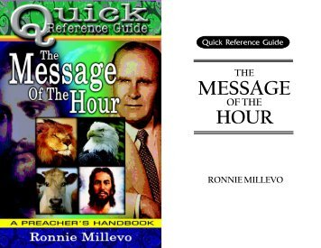 cover, foreword & acknowledgment - Endtimemessage.info