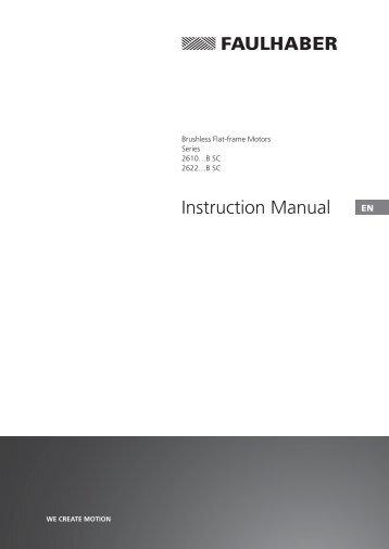 Instruction Manual - Dr. Fritz Faulhaber GmbH & Co. KG
