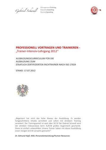 Curriculum ISO_TTT 2012 V4 - Gabriel Schandl