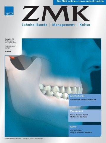 Ausgabe 7-8/2013 - ZMK-Aktuell