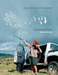 The 2012 Highlights Report of Universities New Zealand - Te Pōkai ...