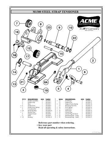 M1300 STEEL STRAP TENSIONER - Acme Packaging