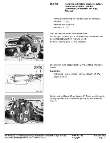 RA Removing and installing/replacing outside handle ... - Ad Kusters