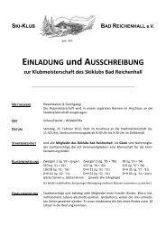 Infos findet Ihr in der Ausschreibung...mehr - Skiklub Bad Reichenhall