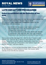 Late Departure Programm Dubai - Royal Caribbean International