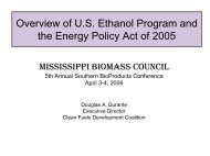 Overview of U.S. Ethanol Program and the Energy Policy Act of 2005