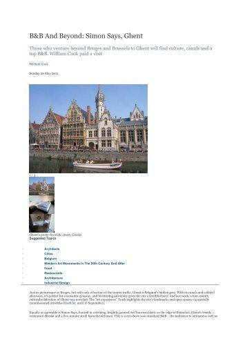 B&B And Beyond: Simon Says, Ghent - Visit Gent