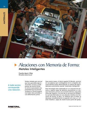 Aleaciones con Memoria de Forma: - Revista Metal Actual