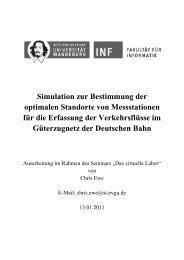 Simulation zur Bestimmung der optimalen Standorte von ...